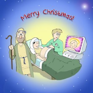 CANX23  Ultrasound Humour Christmas Card